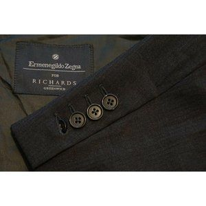 Ermenegildo Zegna Solid Gray 100% Wool 2 Pc Suit